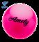 Мяч для художественной гимнастики AGB-101, 19 см, розовый - фото 16002