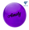 Мяч для художественной гимнастики AGB-102,19 см, фиолетовый, с блестками - фото 16007