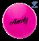 Мяч для художественной гимнастики AGB-102 19 см, розовый, с блестками - фото 16008