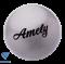 Мяч для художественной гимнастики AGB-102, 19 см, серый, с блестками - фото 16009