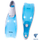 Ласты пластиковые CF-02, серый/голубой, размер 38-39 - фото 17171