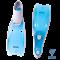 Ласты пластиковые CF-02, серый/голубой, размер 33-34 - фото 17175