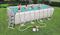 Прямоугольный каркасный бассейн Bestway 56671,песочный фильтр-насос, лестница, настил, тент  - фото 18050
