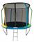 Батут 10FT 3,05м SportElite FLY фиберглас с защитной сеткой внутрь и лестницей FR-60-10FT - фото 18596